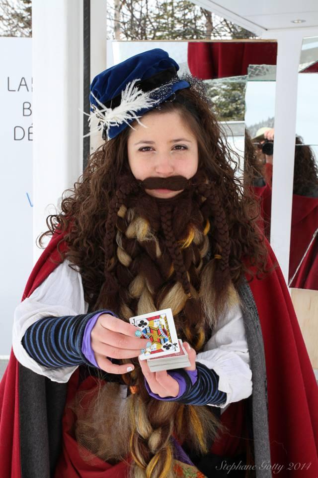 femme à la fabuleuse barbe